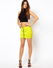 Oh My Love Mini Skirt with Zip Front