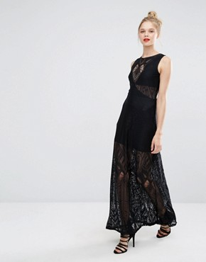 BCBG Max Azria Sleeveless Maxi Dress in Lace