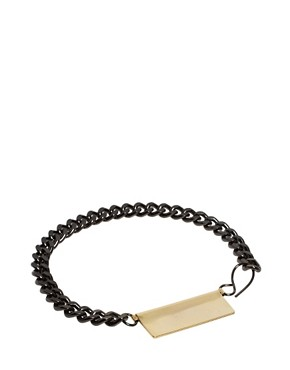 Image 1 ofASOS BLACK Fold Bracelet