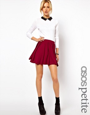 Image 1 ofASOS PETITE Skater Skirt