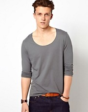 ASOS Long Sleeve T-Shirt With Scoop Neck And Boxy Fit