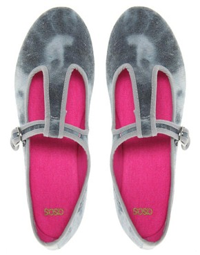 Image 3 ofASOS LAMP POST T-Bar Ballet Flats