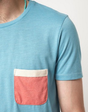 Image 3 ofASOS T-Shirt With Contrast Tape Pocket