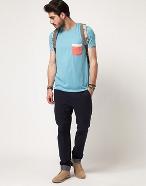 Image 4 ofASOS T-Shirt With Contrast Tape Pocket