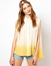 Winter Kate Ember Sleeveless Shirt in Silk Cotton