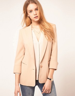 Image 1 ofASOS Tux Blazer In Loose Fit