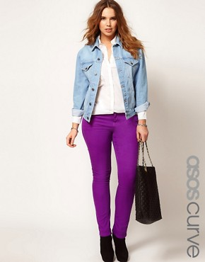 Image 1 ofASOS CURVE Exclusive Skinny In Sparkling Grape #4
