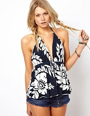 Denim &amp; Supply By Ralph Lauren Floral Halter Top