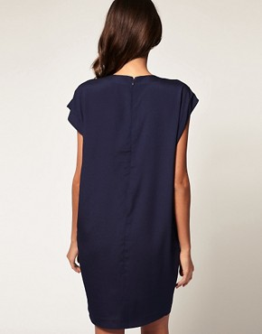 Image 2 ofASOS Shift Dress with Fold Front