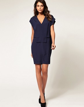Image 4 ofASOS Shift Dress with Fold Front