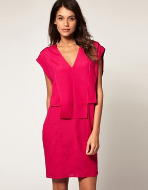 Image 1 ofASOS Shift Dress with Fold Front
