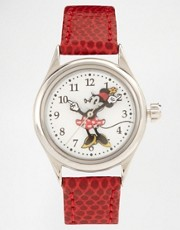 Reloj con correa de cuero de Disney