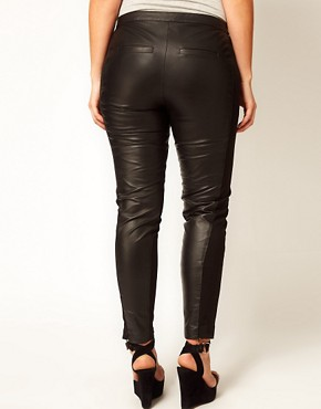 Image 2 ofASOS CURVE Exclusive Leather Panelled Trousers
