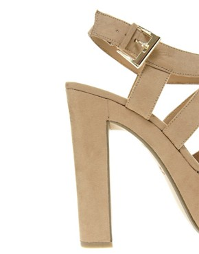 Image 2 ofNew Look Scraper Beige Platform Sandals