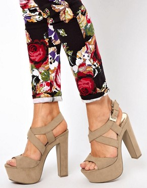 Image 3 ofNew Look Scraper Beige Platform Sandals