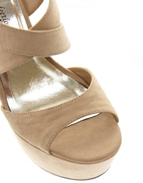 Image 4 ofNew Look Scraper Beige Platform Sandals