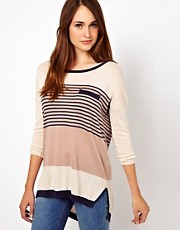 Warehouse Multi Stripe Jumper
