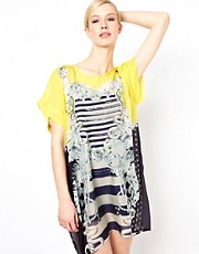 Emma Cook Chiffon Tunic Dress in Yellow Majorette Print