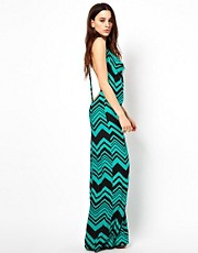 Something Navy Swirl Print Maxi Dress
