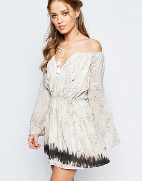 The Jetset Diaries Phython Print Mini Smock Dress