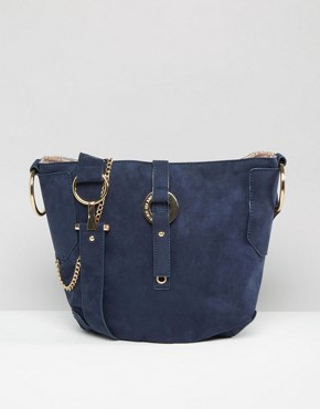 River Island Faux Suede Bucket Bag