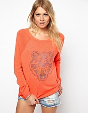 ASOS Studded Tiger Jumper