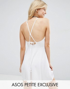 ASOS PETITE Skater Dress With Tie Back