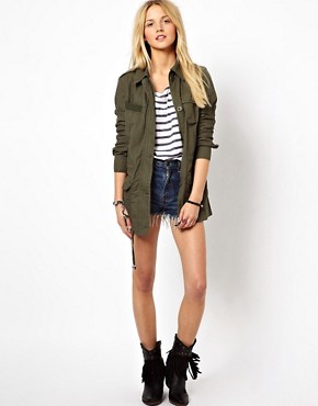 Image 4 ofASOS Four Pocket Utility Parka