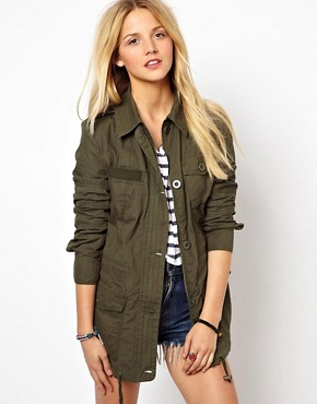 Image 1 ofASOS Four Pocket Utility Parka