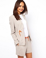ASOS Blazer with Drawstring Detail