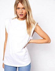 ASOS Clean T-Shirt with Padded Roll Sleeve