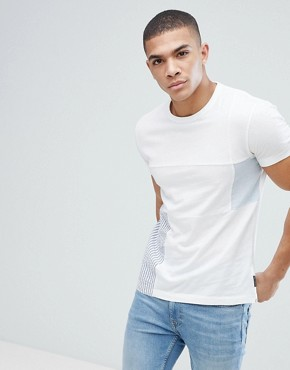 French Connection T-Shirt with Patchwork Detail