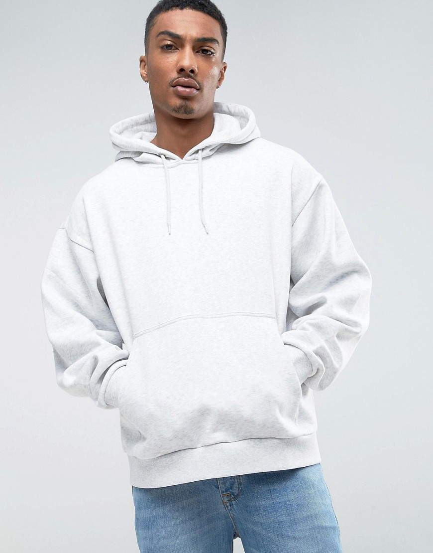 Weekday Big Hawk Hoodie - White melange