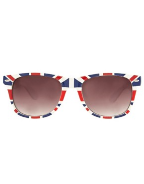 Image 2 ofASOS Union Jack retro sunglasses
