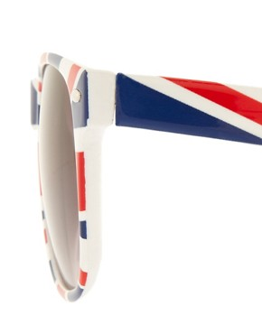 Image 4 ofASOS Union Jack retro sunglasses