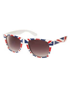 Image 1 ofASOS Union Jack retro sunglasses