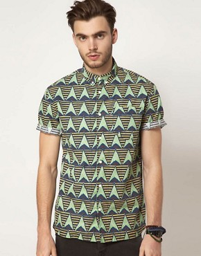 Image 1 ofASOS Shirt With African Wax Inspired Print