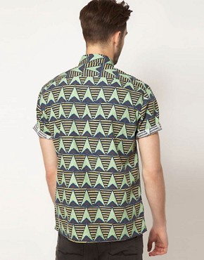 Image 2 ofASOS Shirt With African Wax Inspired Print