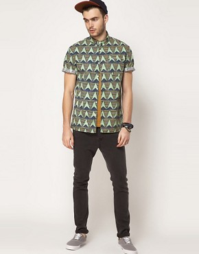 Image 4 ofASOS Shirt With African Wax Inspired Print