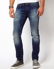 G Star Jeans 3301 Super Slim Fit Medium Aged
