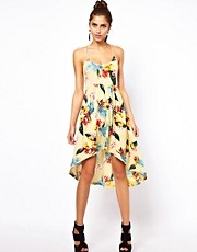 Motel Floral Hi Lo Dress