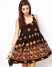 ASOS Smock Dress With Elephant Print