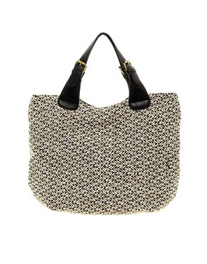 Image 1 ofPieces Bakki Tweed Shopper