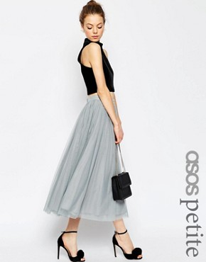 ASOS PETITE WEDDING Tulle Midi Skirt with Layers