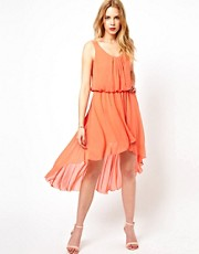 Love Ruched Dress With Asymmetric Hem