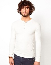 Superdry Grandad Long Sleeve Top