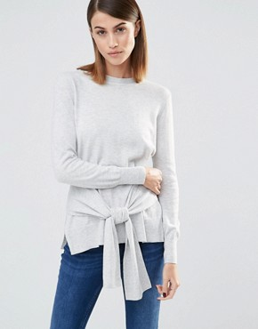 Whistles Long Sleeves Jumper with Tie Sleeve Front