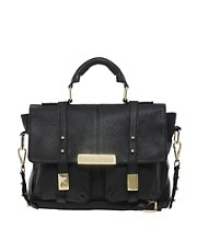 ASOS Leather Satchel Bag With Metal Tips