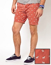 ASOS Chino Shorts With Zebra Print