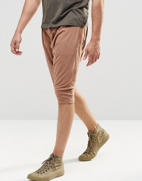 Sixth June Slouchy Jersey Shorts With Drop Crotch